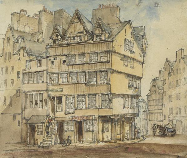 Houses at the Head of the West Bow, Edinburgh