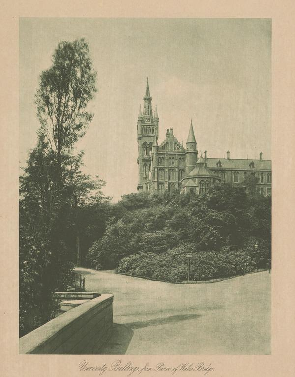 Glasgow University Buildings from Prince of Wales Bridge