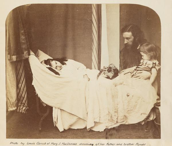 'Mary J. MacDonald dreaming of her father [George MacDonald] and brother Ronald' (About 1864)