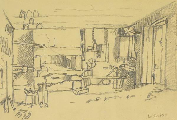 Interior of a Smithy