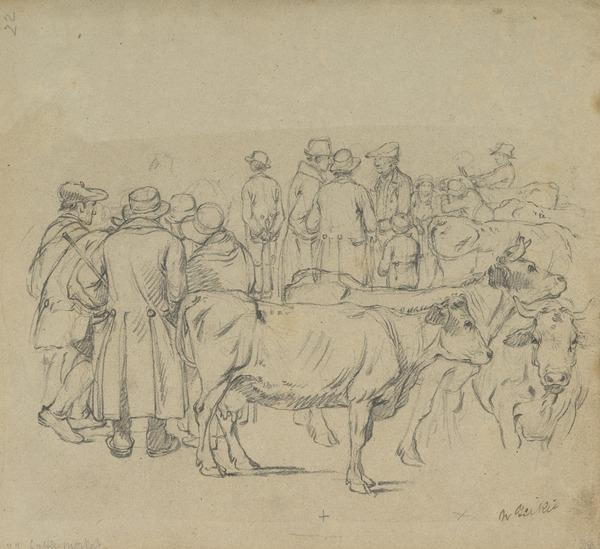 The Cattle Market. Study for the Painting 'Hallow Fair in the Grassmarket'