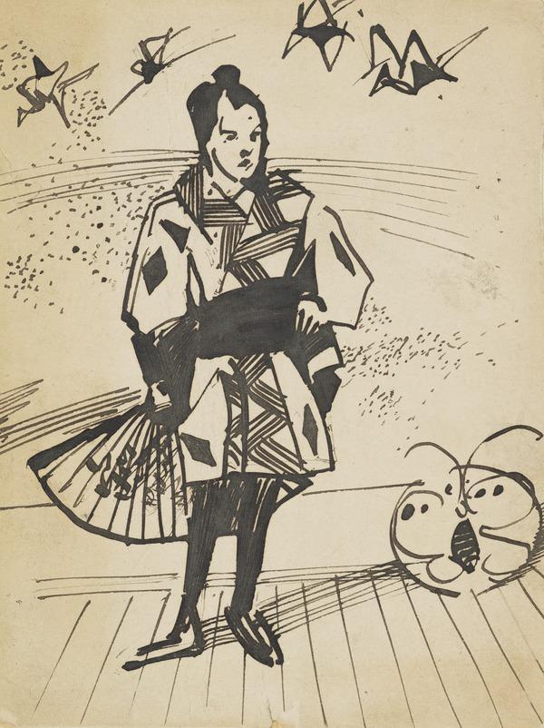 E.A. Walton Dressed as Hokusai