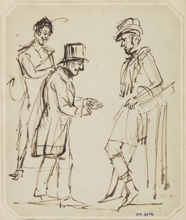 Caricature Sketch - Two Horse Dealers and the Devil