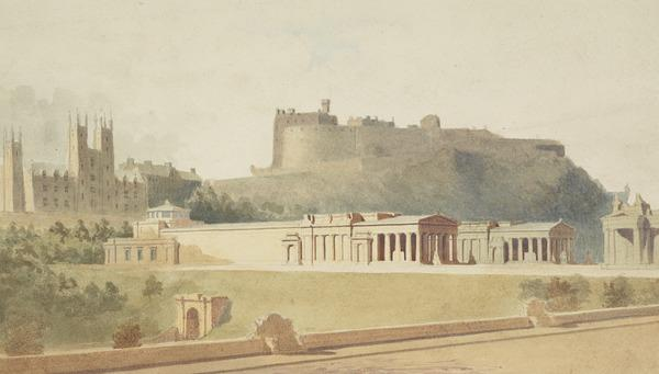 A Design for the Proposed National Gallery and Academy Buildings, the Mound, Edinburgh (About 1850)