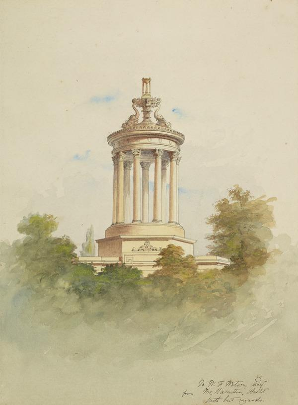 Design for the Burns Monument, Alloway, Ayrshire
