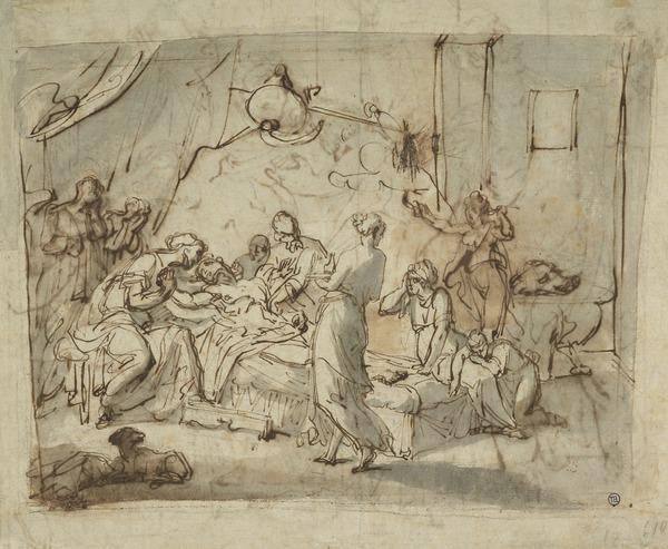 The Persians Begging Meleager to Defend the City of Calydon (Estimated earliest year: 1738)