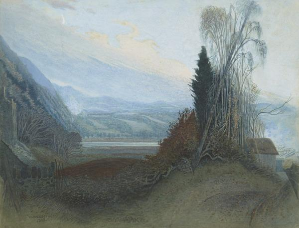 Landscape with Trees and a River (1893)