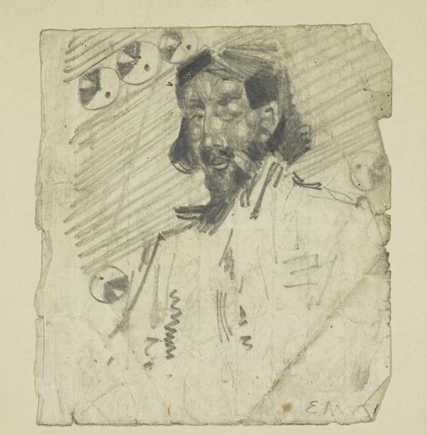 Sketch of Robert Bontine Cunninghame Graham (1852-1936)