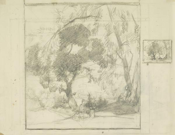 Study for the Oak and the Ash