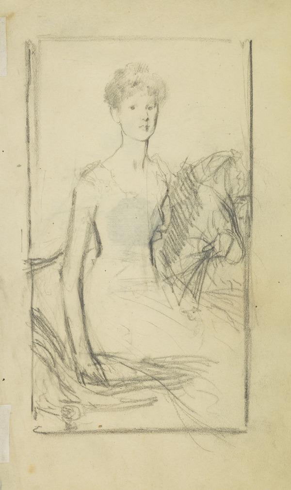 Female Portrait - Lady with a Fan
