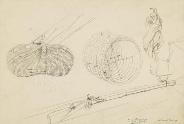A Flint Lock Gun and Baskets. Study for the Painting 'Examination of a Village School'