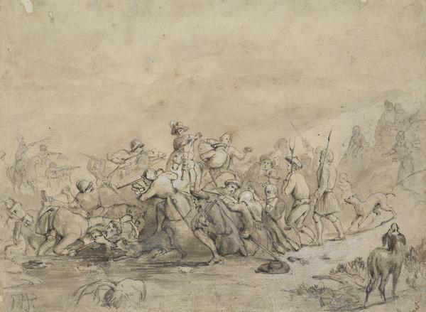 Study for the Painting 'The Battle of Drumclog' (About 1836)