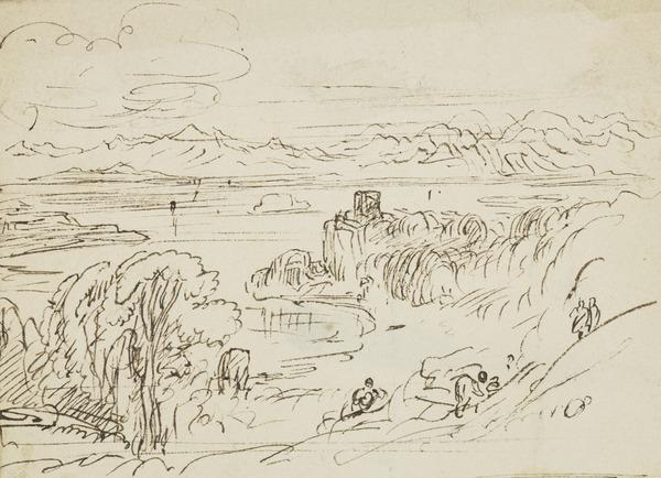 Landscape with a Castle (Western Isles ?)