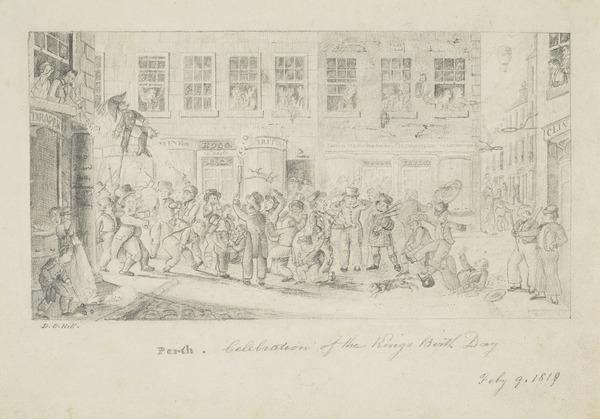 Celebrating the King's Birthday, Perth (Dated 1819)