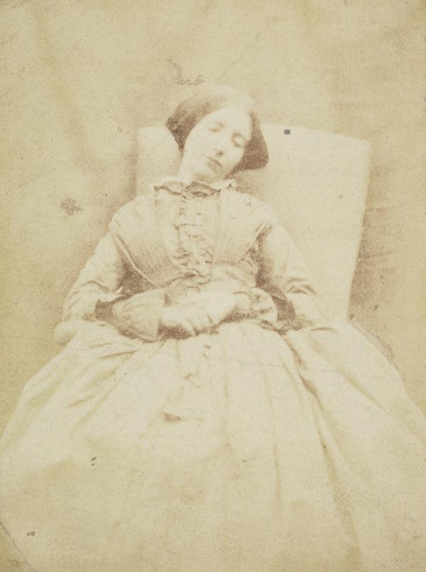 Helen Kemlo Stephen (Mrs John Muir Wood) sleeping (About 1855)