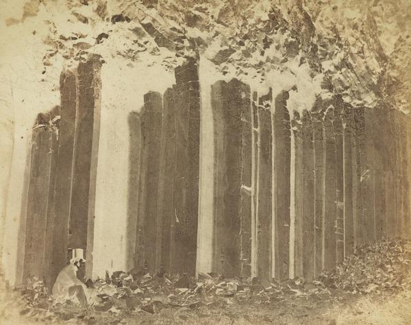 Figure with Basalt Columns, possibly Craigahulliar Quarry, Country Antrim (About 1850)