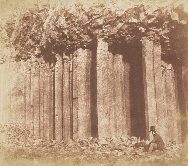 Figure with Basalt Columns, possibly Craigahulliar Quarry, County Antrim (About 1850)