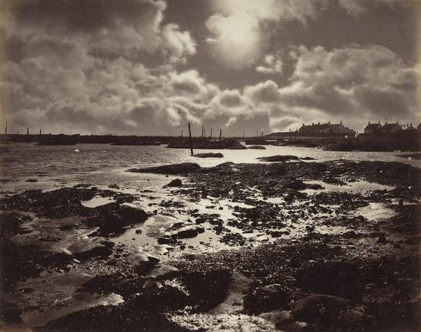 'West Haven - Carnoustie 1880', moonlight view of a sea shore (1880)
