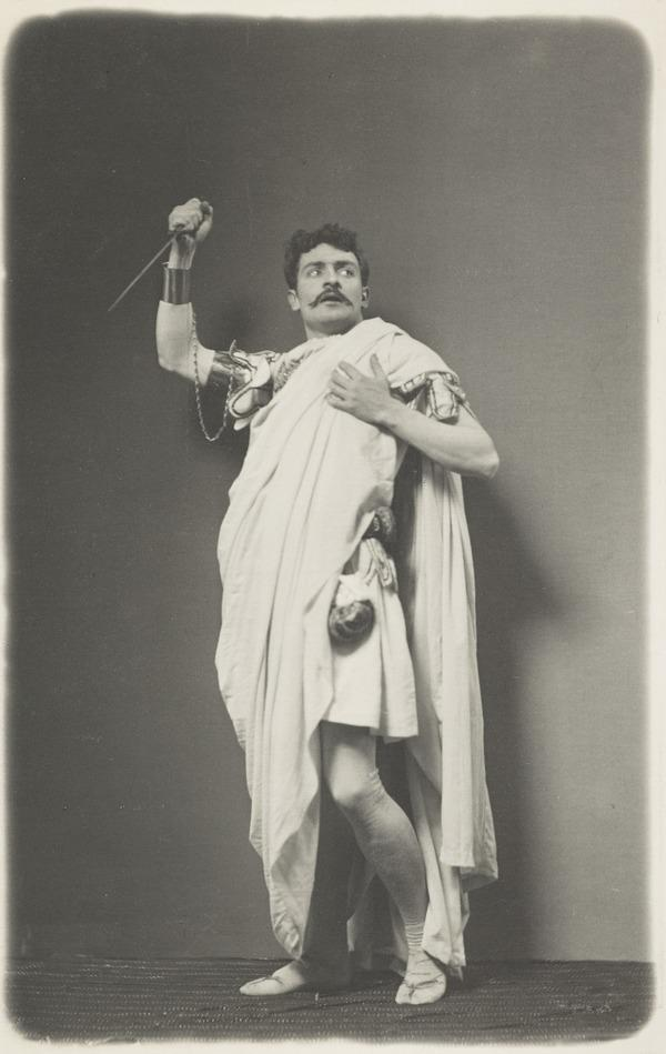 Young man in Roman dress with dagger, Brutus ? (About 1887)