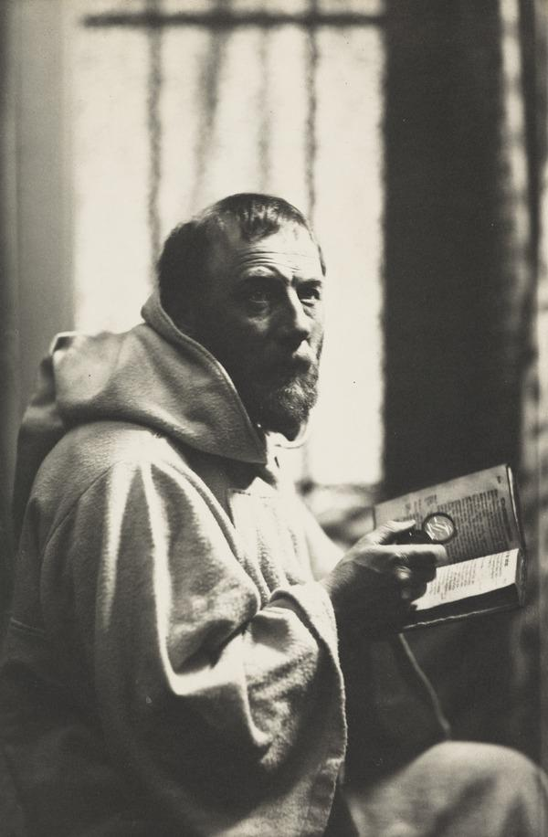 John Pettie, 1839 - 1893. Artist. (Dressed as a monk or friar) (1886)