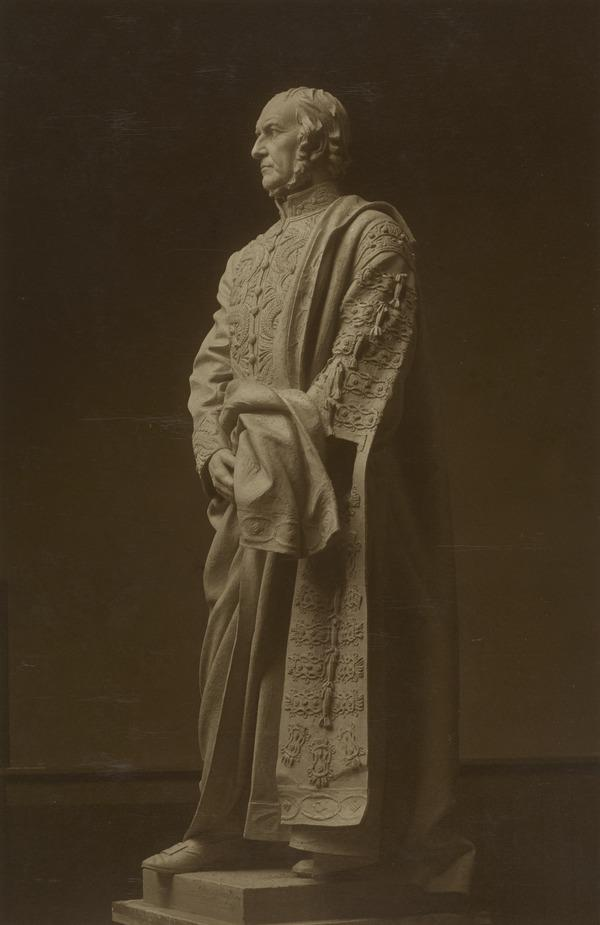 Classical Statue of Unknown Male in Profile