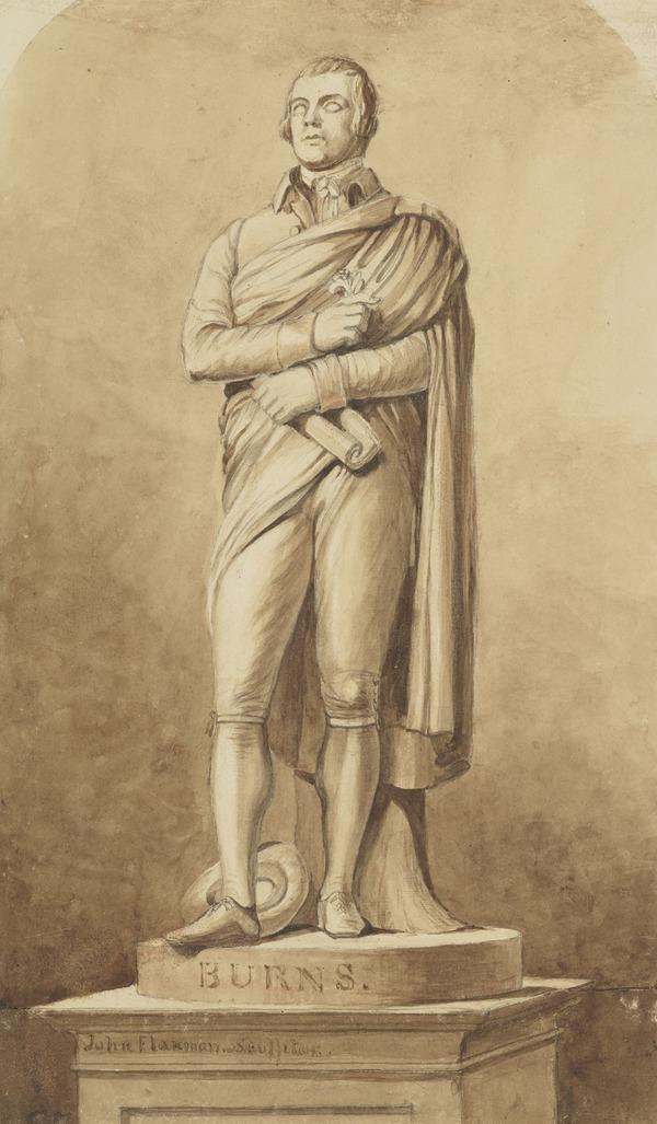 Robert Burns. Copy after the Statue by John Flaxman