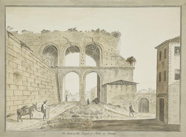 Temple of Peace in Rome. Copy after David Allan (Estimated earliest year: 1781)