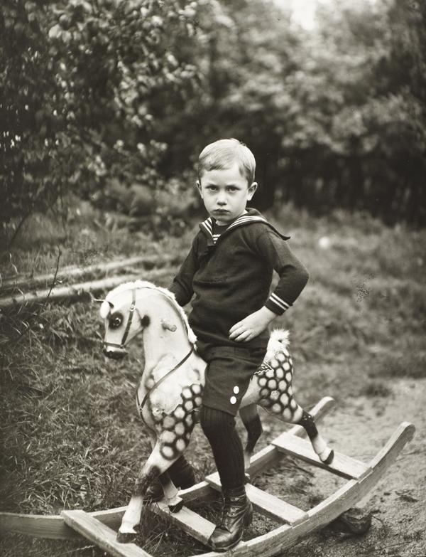 Young Boy on a Toy Horse, about 1922-25 (about 1922 - 1925)