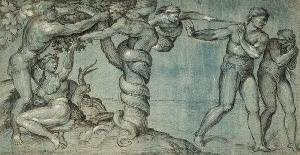 The Temptation and Expulsion from Paradise [after Michelangelo]
