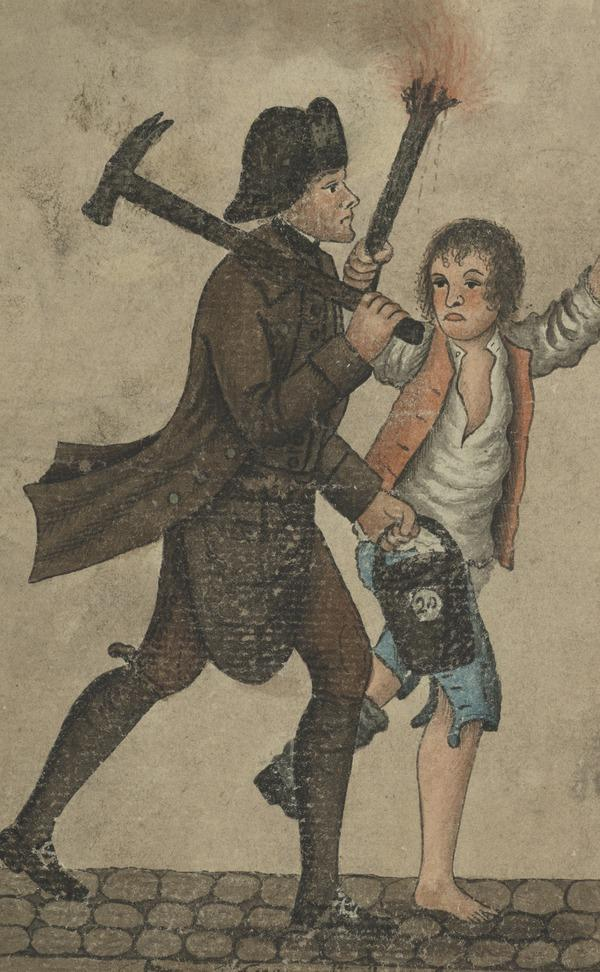 A Fireman and a Linkboy (Dated 1792)