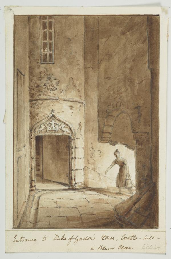 Doorway of the Duke of Gordon's House, Blair's Close, Castle Hill, Edinburgh