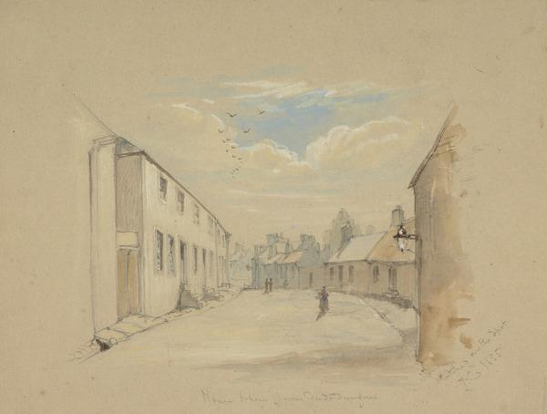 The House in Dumfries where Burns Died (Dated 1855)