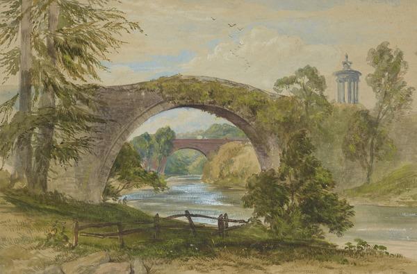 The Auld Brig O'Doon, Ayrshire (1855)
