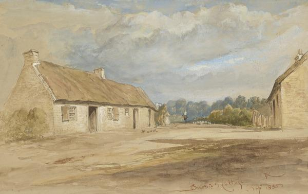 Burns' Cottage, Alloway, Ayrshire (Dated Sept. 1855)