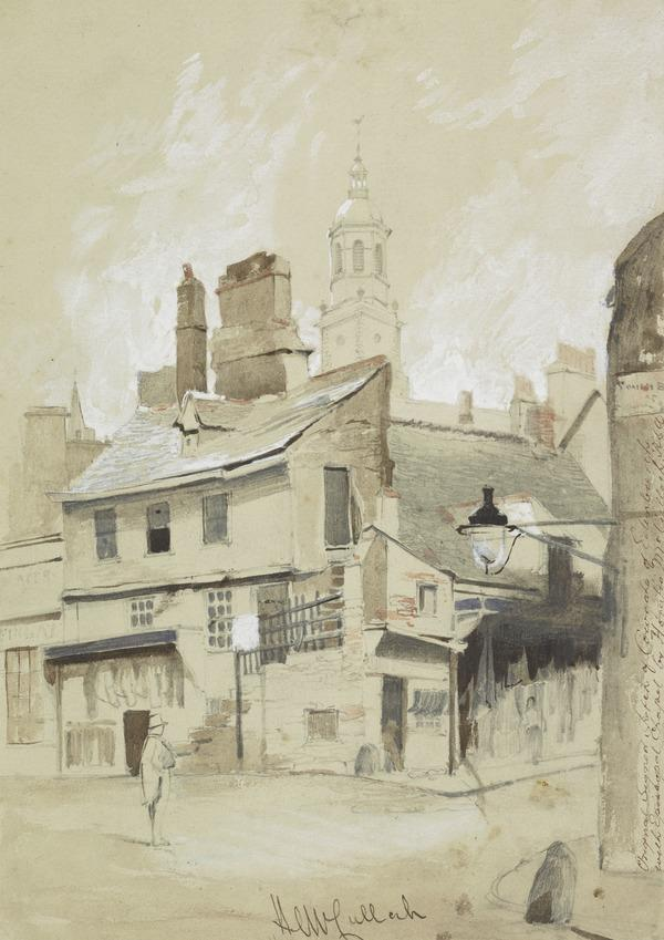 The Cowgate, Edinburgh, with St Patrick's Episcopalian Church in the Background (About 1845)