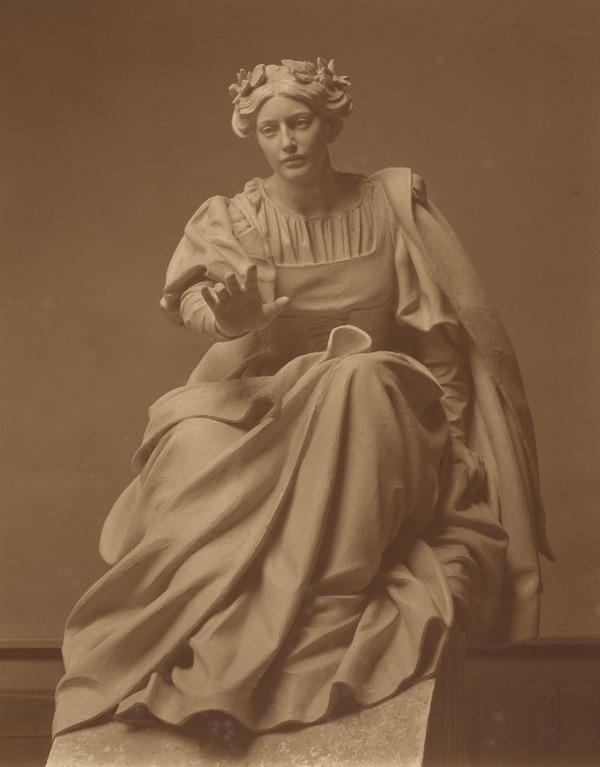 Classical Statue of an Unknown Seated Woman