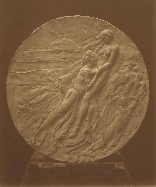 Circular Sculpture of a Man and Woman