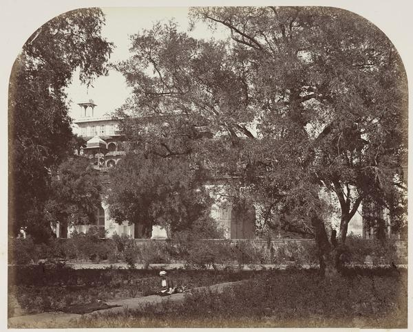 'Secundra. The Mausoleum of Akbar, from the enclosure' (1858 - 1865)
