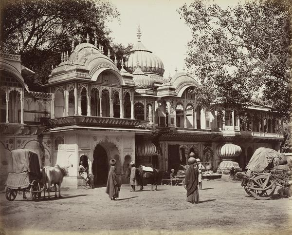 'Rajgurh. A Chutree [resting place for travellers]' (Early 1860s)