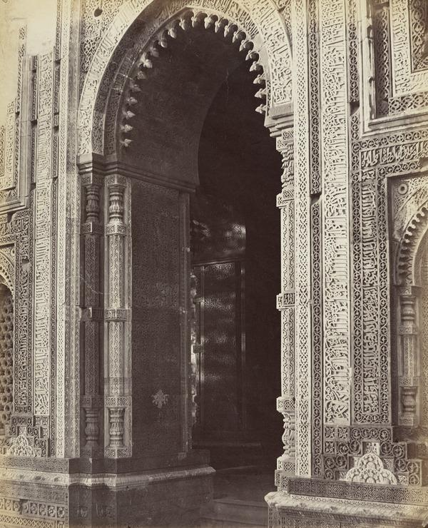 'The Kootub. Gateway on the south side' (1858 - 1865)