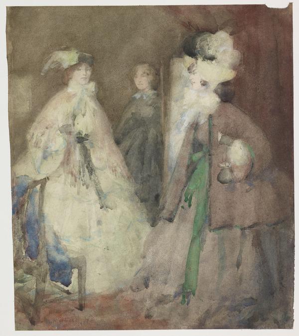 Three Ladies of Fashion (Dated 1900)