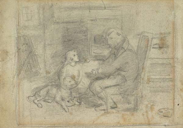 Study for the Painting 'Willie Baird' (About 1866)
