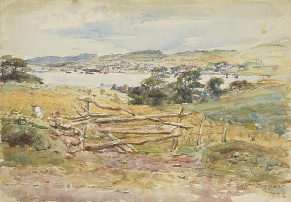The Highland Loch (Dated 1884)