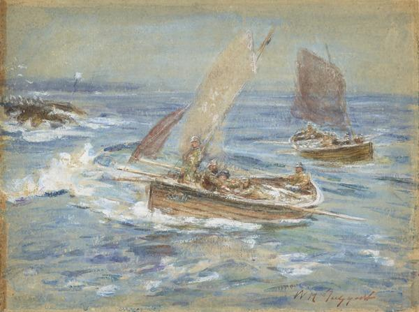 Crossing the Bar (Study for the Painting 'Over the Harbour Bar') (About 1883 - 1886)