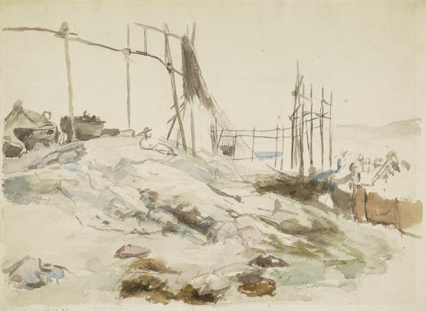 A Sketch at Tarbert, Argyllshire (About 1868 - 1869)