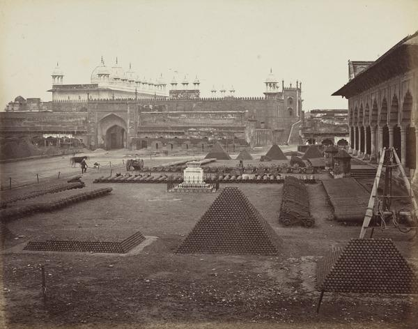 'Agra. The great court of the Fort' (Early 1860s)