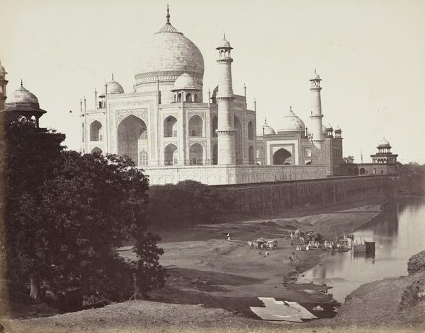 'Agra. The Taj, a rear view from the river' (1858 - 1865)