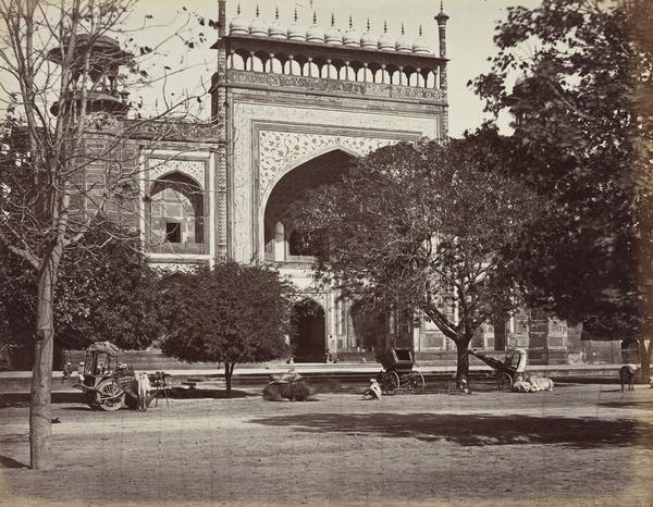 'Agra. The principal Gateway of the Taj Mahal' (1858 - 1865)