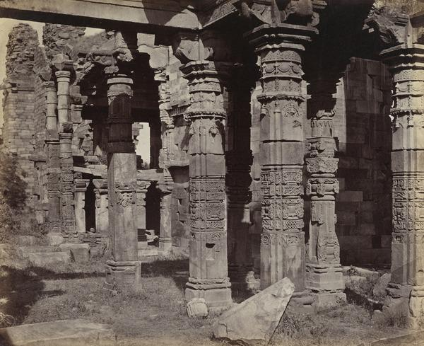 'The Kootub. Part of the Jain Temple' (1858 - 1865)