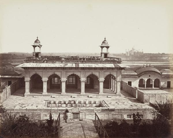 'Agra. Pavilions in the Harem Court' (1858 - 1865)